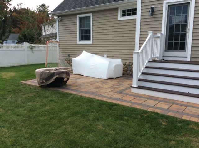 Shrink Wrapping Outdoor Furniture Before Amp After Photo