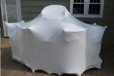 shrink wrapping outdoor furniture